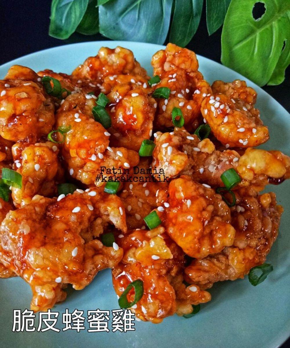 Ayam Madu Crispy Chinese Style Paling Sedap Halalan Toyyiban